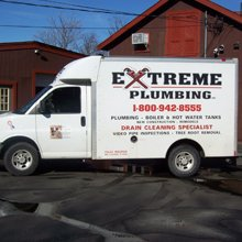 extreme plumbing services truck